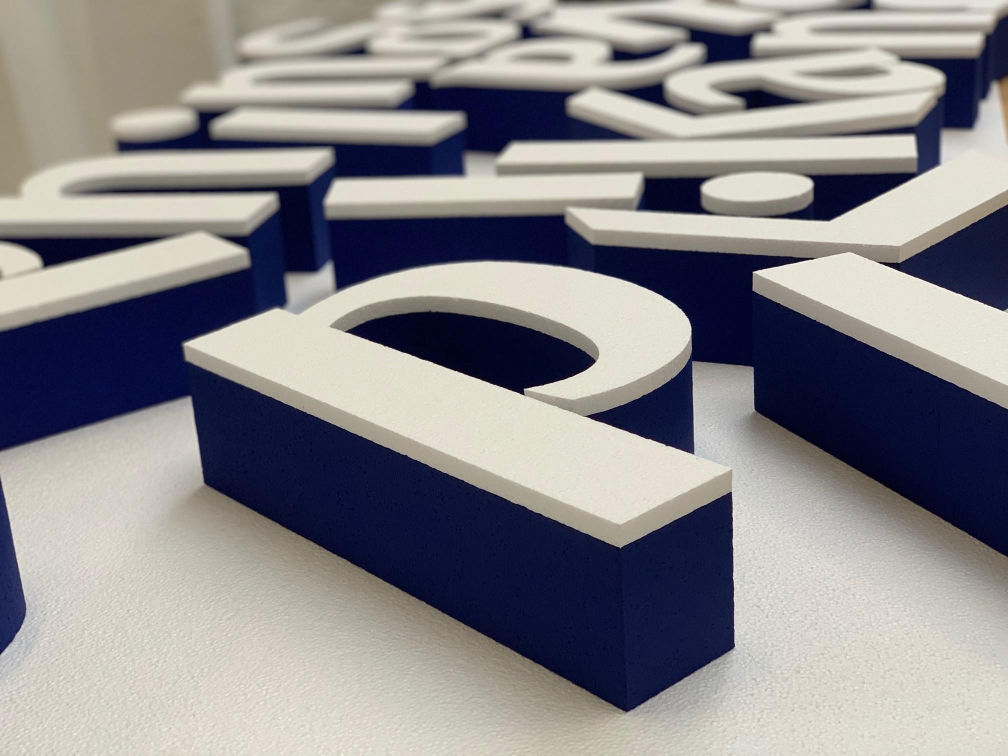 Piepschuim 3D letters in twee kleuren