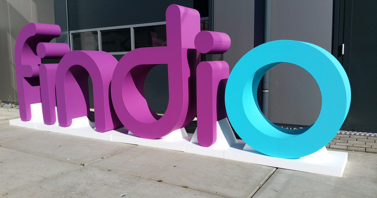 Grote 3D piepschuim letters Findio