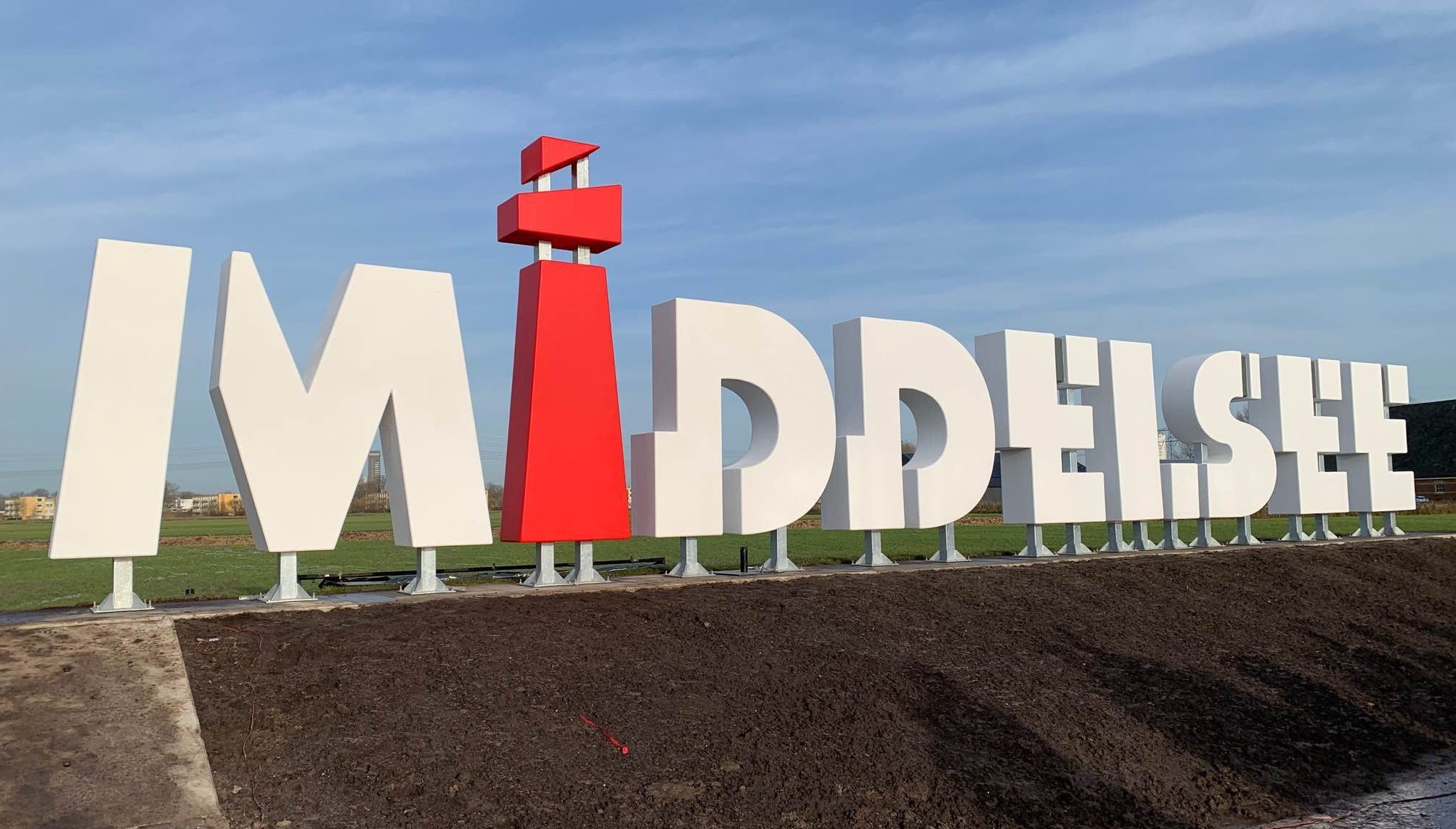 Piepschuim 3D kunststof letters Middelsee